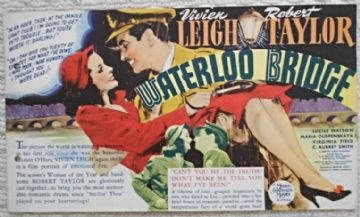 Waterloo Bridge, Flyer/Herald, Vivien Leigh, Robert Taylor, '40